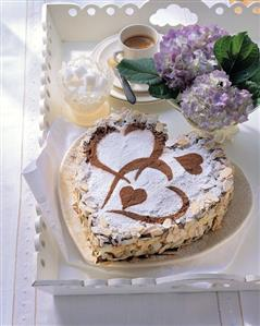 Heart-shaped chocolate gateau with vanilla mascarpone cream (2)