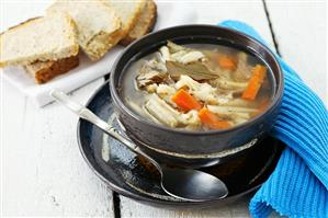 Tripe, beef and vegetable soup