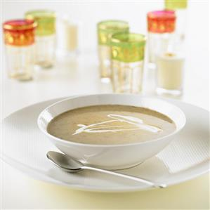 Cream soup with sour cream