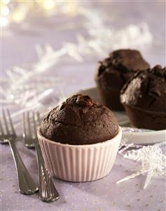 Muffins de chocolate. Receta disponible.